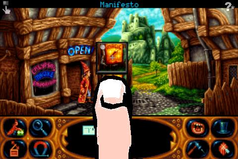 Screenshot Simon the Sorcerer 2: Il Leone, la procedura guidata e l'armadio